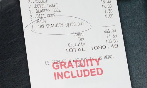 gratuity-included