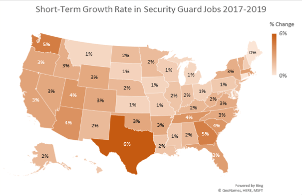 Security Guard Job Growth