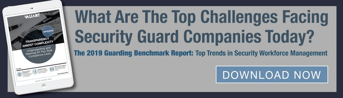 What are the top challenges facing security guard companies today - whitepaper
