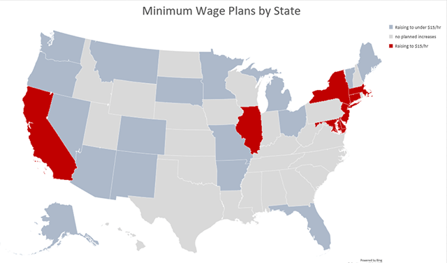 Which States are Raising the Minimum Wage