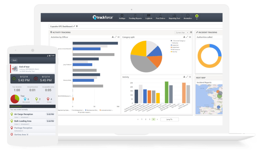 Security workforce tracking software - Trackforce Valiant