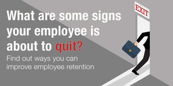 signs an employee is about to quit, graphic