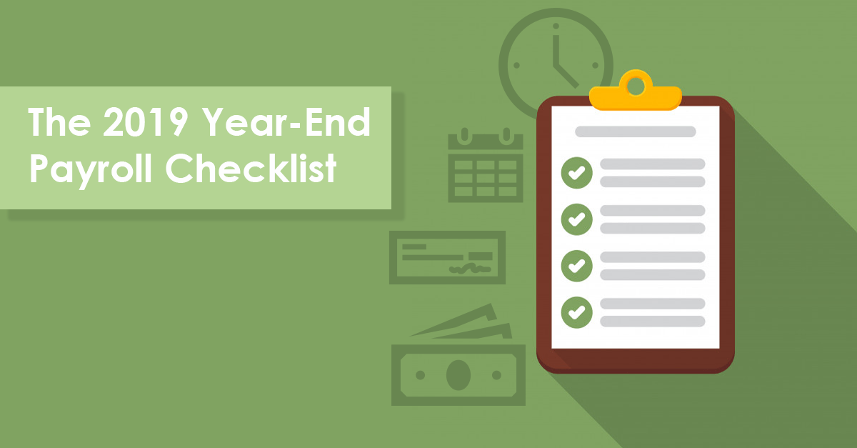 2019 year-end payroll checklist